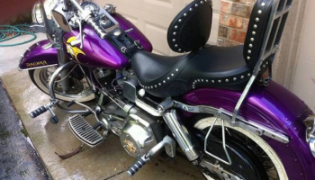 LOOK: This Vikings-themed Harley Davidson is...